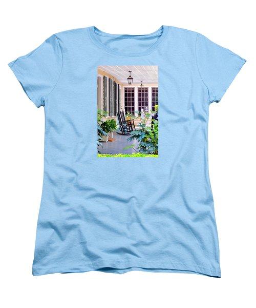 Veranda - Charleston, S C By Travel Photographer David Perry Lawrence Women's T-Shirt (Standard Cut)