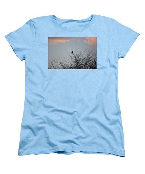 Hope Perched  Atop Women's T-Shirt (Standard Cut) by Sonali Gangane