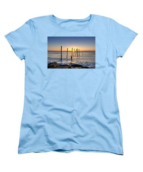 Horizon Sunburst Women's T-Shirt (Standard Cut) by Michael Ver Sprill