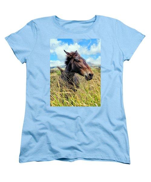 Women's T-Shirt (Standard Cut) featuring the photograph Horse 6 by Dawn Eshelman