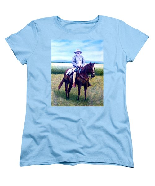 Horse And Rider Women's T-Shirt (Standard Cut) by Stacy C Bottoms
