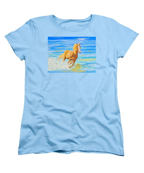 Women's T-Shirt (Standard Cut) featuring the painting Horse Bright by Phyllis Kaltenbach