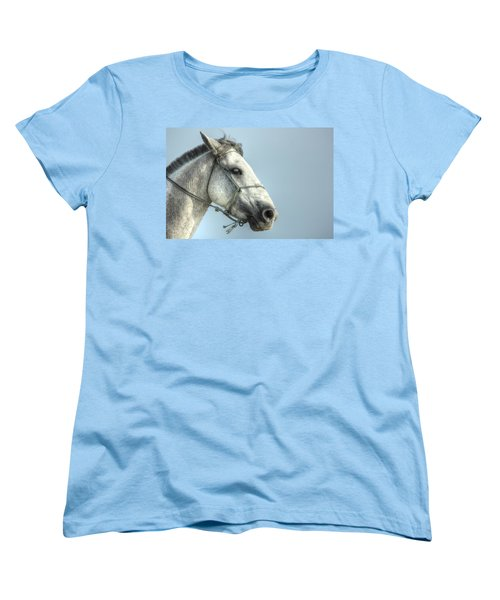Women's T-Shirt (Standard Cut) featuring the photograph Horse Head-shot by Eti Reid