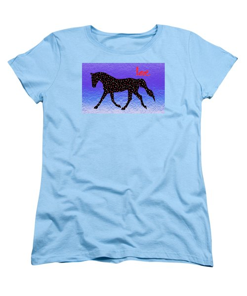 Horse Hearts And Love Women's T-Shirt (Standard Cut) by Patricia Barmatz