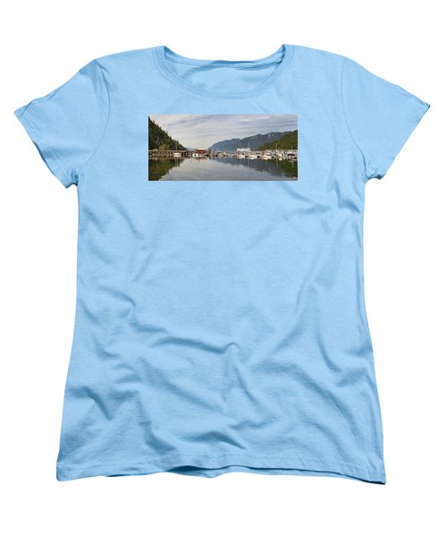 Women's T-Shirt (Standard Cut) featuring the photograph Horseshoe Bay Vancouver Bc Canada by JPLDesigns