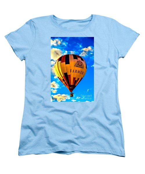 Hot Air Ballon Farmer's Insurance Women's T-Shirt (Standard Cut) by Robert Bales