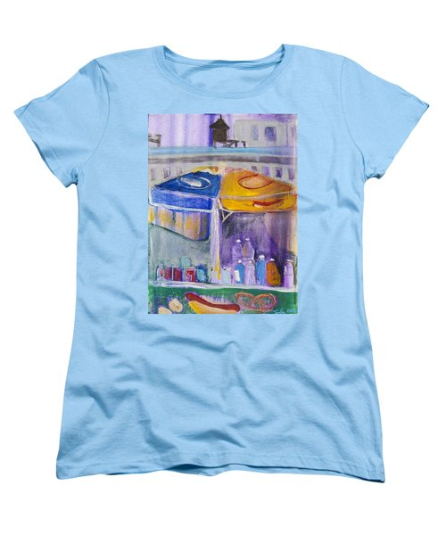 Hot Dogs  Women's T-Shirt (Standard Cut) by Leela Payne