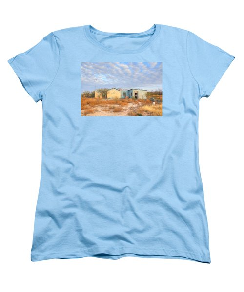 House In Ft. Stockton Iv Women's T-Shirt (Standard Cut) by Lanita Williams