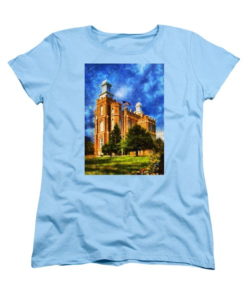 Women's T-Shirt (Standard Cut) featuring the digital art House Of Learning by Greg Collins