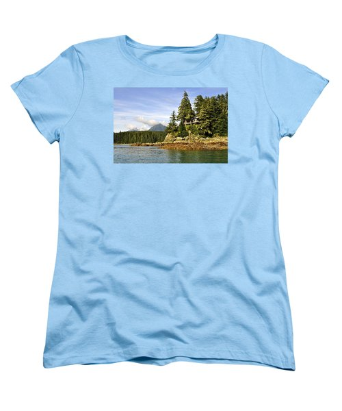 Women's T-Shirt (Standard Cut) featuring the photograph House Upon A Rock by Cathy Mahnke