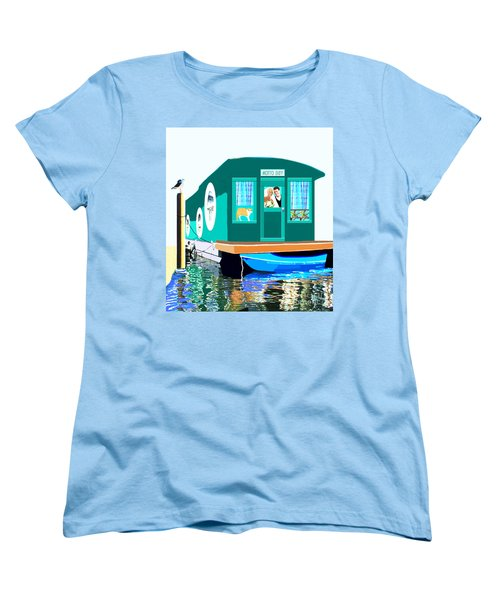 Houseboat Women's T-Shirt (Standard Cut) by Marian Cates