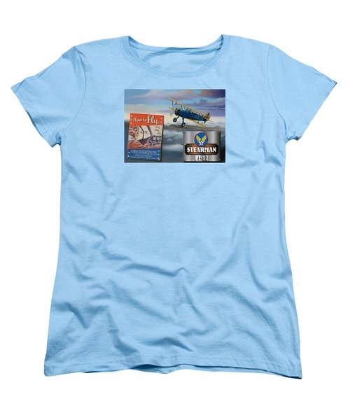How To Fly Stearman Pt-17 Women's T-Shirt (Standard Cut) by Stuart Swartz