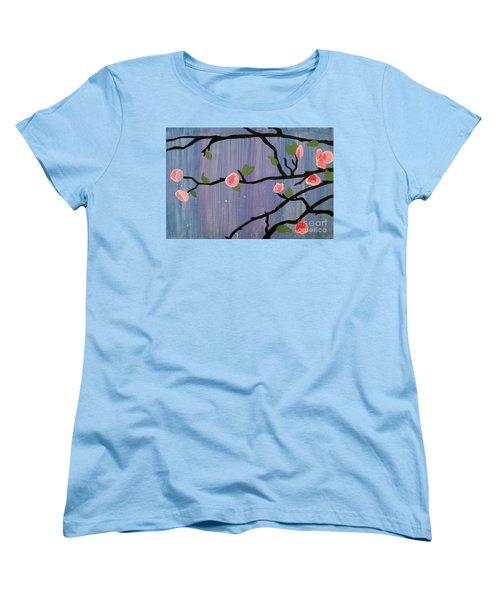 Women's T-Shirt (Standard Cut) featuring the painting Humble Splash by Marisela Mungia