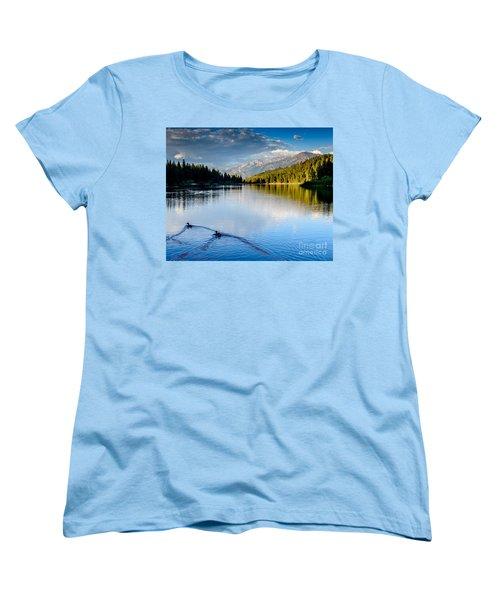 Hume Lake Evening Women's T-Shirt (Standard Cut) by Terry Garvin