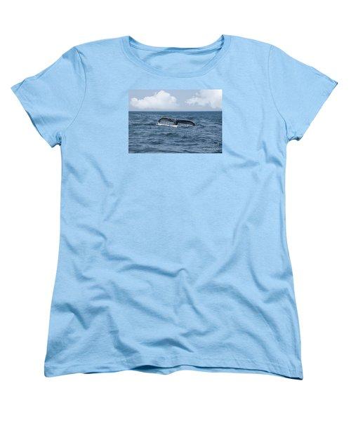 Humpback Whale Fin Women's T-Shirt (Standard Cut) by Juli Scalzi