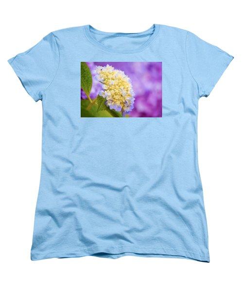 Hydrangea On Purple Women's T-Shirt (Standard Cut) by Parker Cunningham