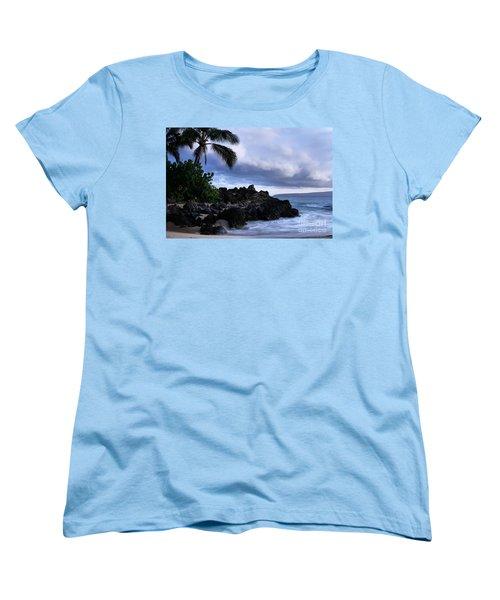I Ke Kai Hawanawana Eia Kuu Lei Aloha - Paako Beach Maui Hawaii Women's T-Shirt (Standard Cut) by Sharon Mau