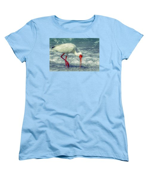 Ibis Feeding Women's T-Shirt (Standard Cut) by Valerie Reeves