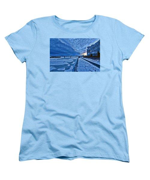 Ice Station Hudson Women's T-Shirt (Standard Cut) by Jeffrey Friedkin