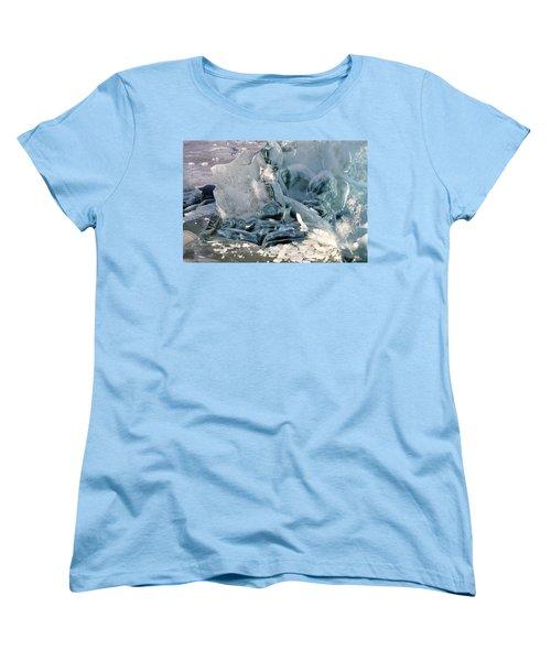 Iceberg Detail - Mendenhall Lake Women's T-Shirt (Standard Cut)