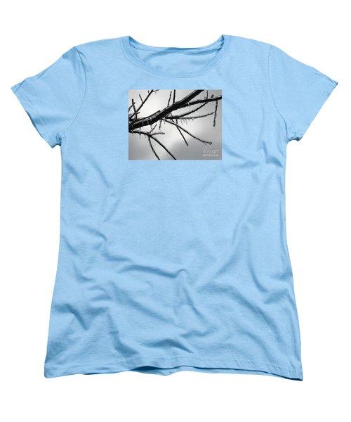 Women's T-Shirt (Standard Cut) featuring the photograph Iced Tree by Ann Horn