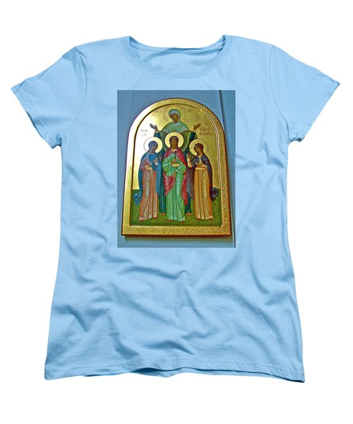 Icon Inside Chesme Church Built By Catherine The Great In Saint  Petersburg-russia Women's T-Shirt (Standard Cut) by Ruth Hager
