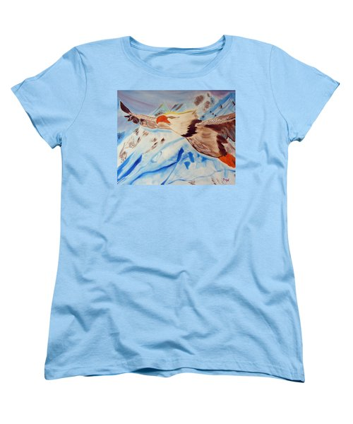 Icy Blue Women's T-Shirt (Standard Cut) by Meryl Goudey