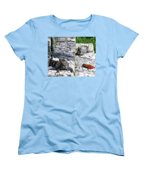 Women's T-Shirt (Standard Cut) featuring the photograph Iguana Bask In The Sun With You by Patti Whitten
