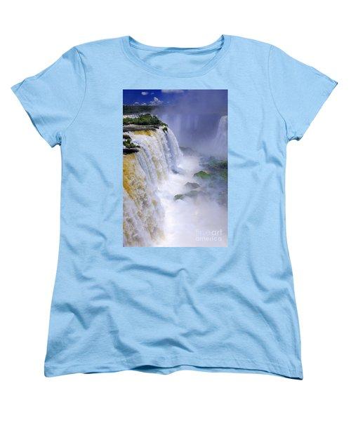 Iguazu Falls IIi Women's T-Shirt (Standard Cut) by Bernardo Galmarini