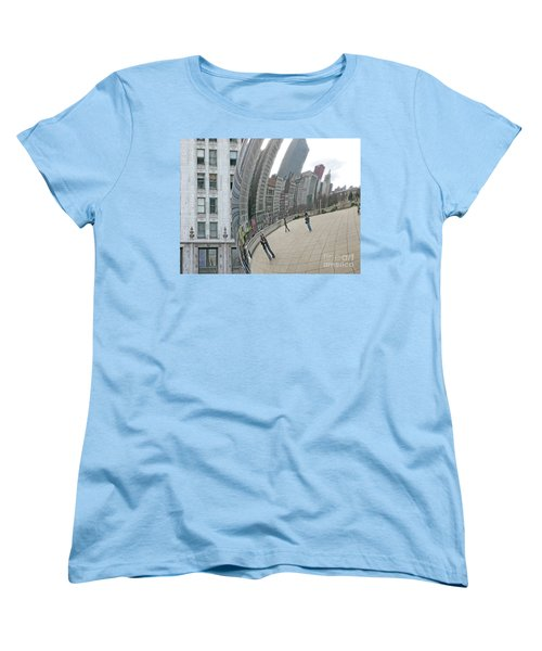 Women's T-Shirt (Standard Cut) featuring the photograph Imaging Chicago by Ann Horn