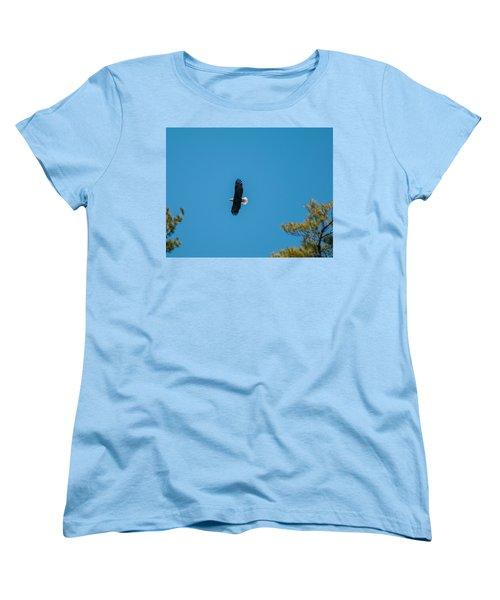 Women's T-Shirt (Standard Cut) featuring the photograph In Flight by Brenda Jacobs