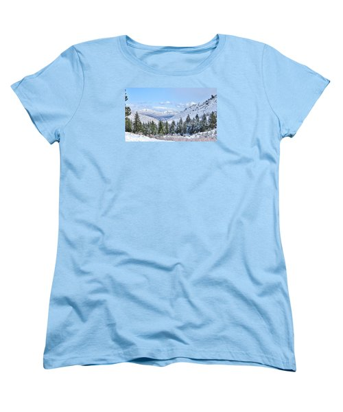 Women's T-Shirt (Standard Cut) featuring the photograph In The Canyon by Marilyn Diaz