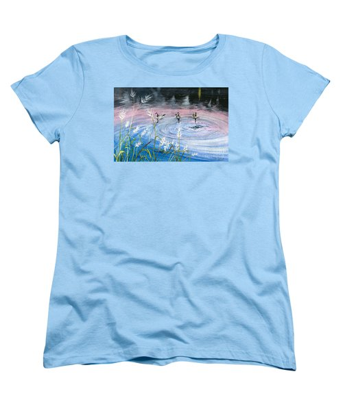Women's T-Shirt (Standard Cut) featuring the painting In The Dusk by Melly Terpening