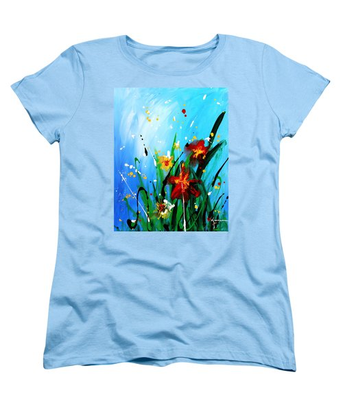 Women's T-Shirt (Standard Cut) featuring the painting In The Garden by Kume Bryant