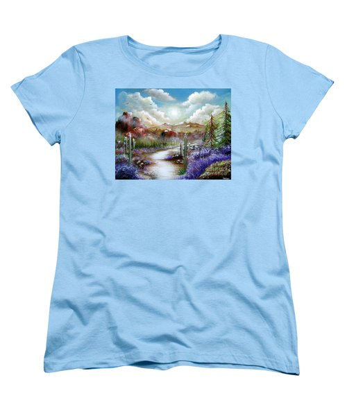 Women's T-Shirt (Standard Cut) featuring the painting Indian Gin And Whiskey Dry by Patrice Torrillo