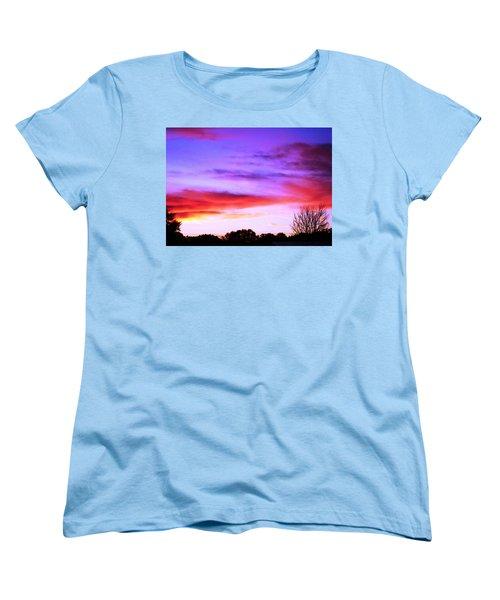 Indian Morning Sky Women's T-Shirt (Standard Cut) by Belinda Lee