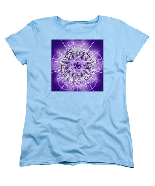 Women's T-Shirt (Standard Cut) featuring the drawing In'phi'nity Star-map by Derek Gedney