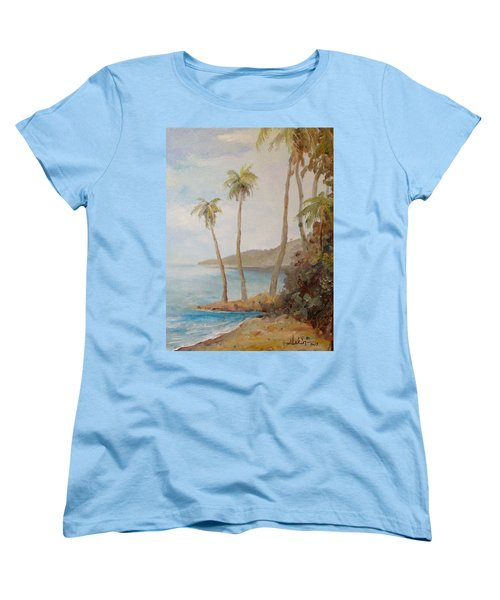 Women's T-Shirt (Standard Cut) featuring the painting Inside The Reef by Alan Lakin