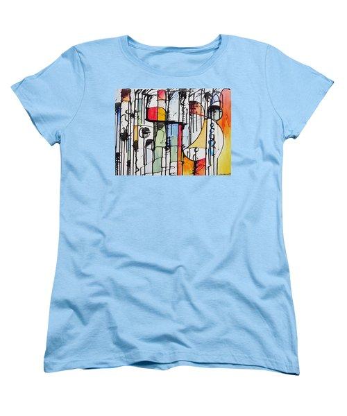 Women's T-Shirt (Standard Cut) featuring the painting Internal Opposition by Jason Williamson