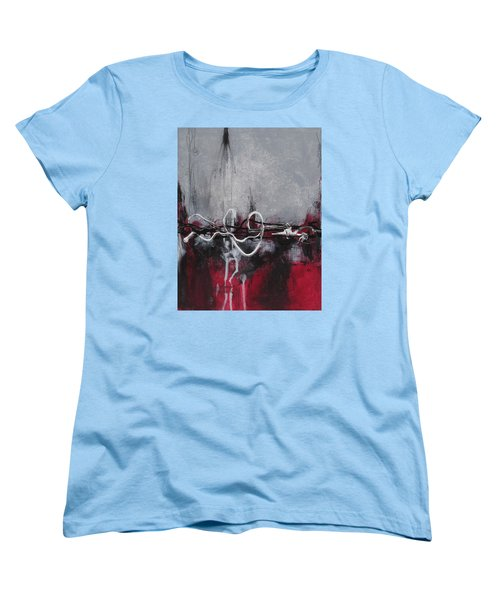 Women's T-Shirt (Standard Cut) featuring the painting Into The Fire by Nicole Nadeau