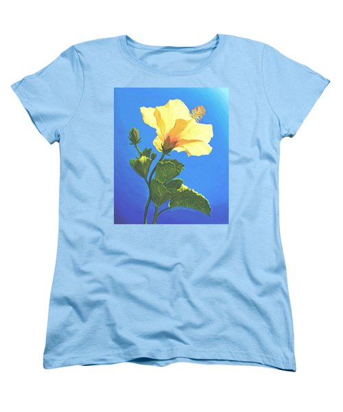 Women's T-Shirt (Standard Cut) featuring the painting Into The Light by Sophia Schmierer