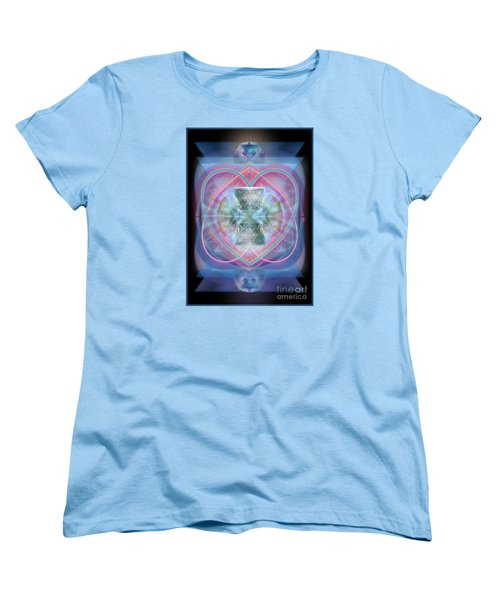 Intwined Hearts Chalice Wings Of Vortexes Radiant Deep Synthesis Women's T-Shirt (Standard Cut) by Christopher Pringer