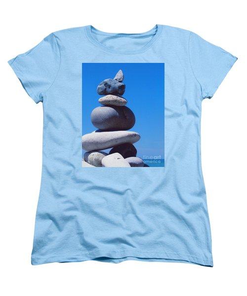 Inukshuk 1 By Jammer Women's T-Shirt (Standard Cut) by First Star Art
