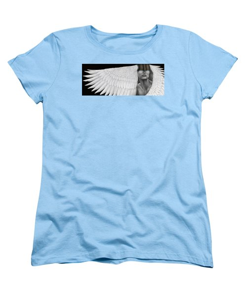Women's T-Shirt (Standard Cut) featuring the painting Inward Flight by Pat Erickson