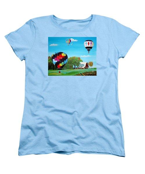Iowa Balloons Women's T-Shirt (Standard Cut) by Phyllis Kaltenbach