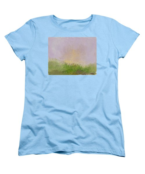 Iris Field Women's T-Shirt (Standard Cut) by Mark Minier