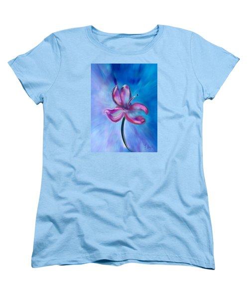 Women's T-Shirt (Standard Cut) featuring the digital art Iris In Pastel by Frank Bright