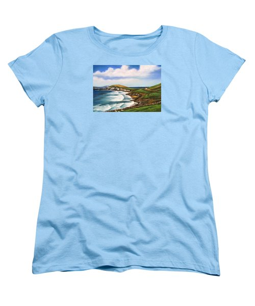 Dingle Peninsula Irish Coastline Women's T-Shirt (Standard Cut) by Melinda Saminski