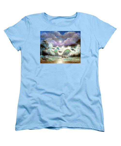 Women's T-Shirt (Standard Cut) featuring the painting Irresistible Force  by Patrice Torrillo