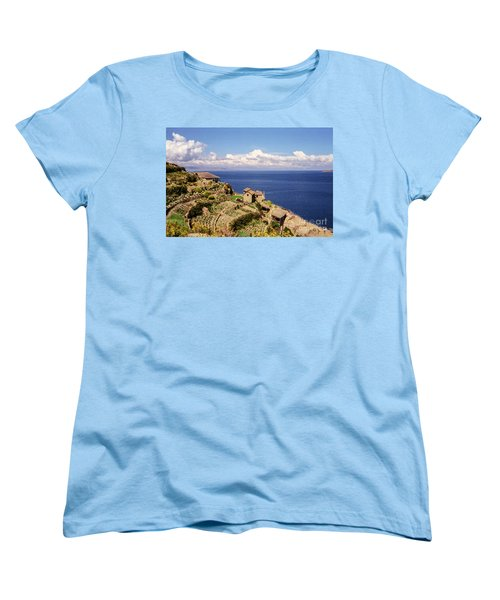 Women's T-Shirt (Standard Cut) featuring the photograph Isla Del Sol by Suzanne Luft